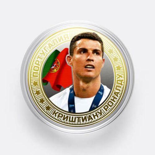 2018 World Cup-Russia Cristiano Ronaldo Coins 10 rubles Portugal UNC!