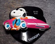 Vintage Hair Barrette Snoopy Sports Car Peanuts Karina France Accessory