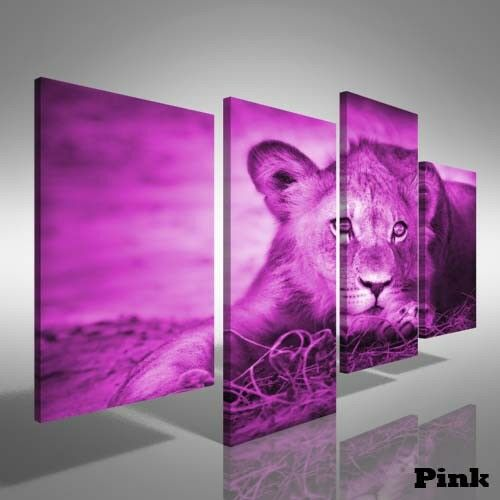 Beautiful Young Lion Cub Offset Canvas Print Large Picture Wall Print