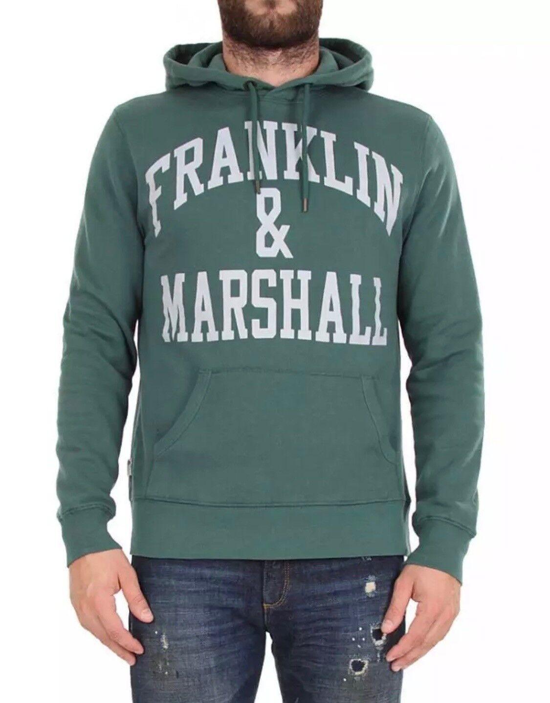 FRANKLIN & MARSHALL MENS FLEECE HOODIE HOODY - GREEN   FAIRWAY - RRP  - SALE