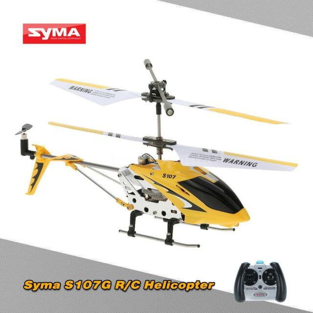 3ch Syma S107g Mini Infrared Rc Helicopter With Gyro Yellow Us E5p4