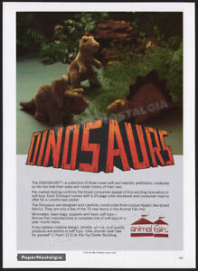 ANIMAL FAIR - DINOSAURS__Original 1980 Trade print AD / toy promo__ADVERTISEMENT