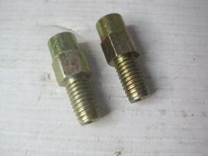 """1840 Lot(2) Straight Pipe To Tube Adapter 1/8""""-27 Female X 3/8-16 Male 12368370"""