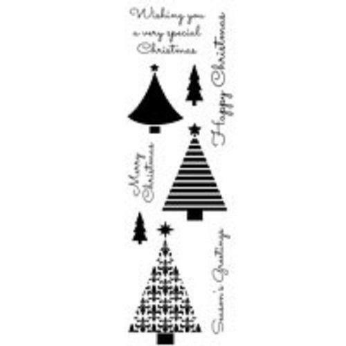 Woodware Clear Magic Singles Stamp Christmas Trees FRS339
