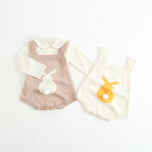 82b17d71fb79 Beautiful Knitted Bunny Romper in Pink or White  EASTER   Free P P + ...