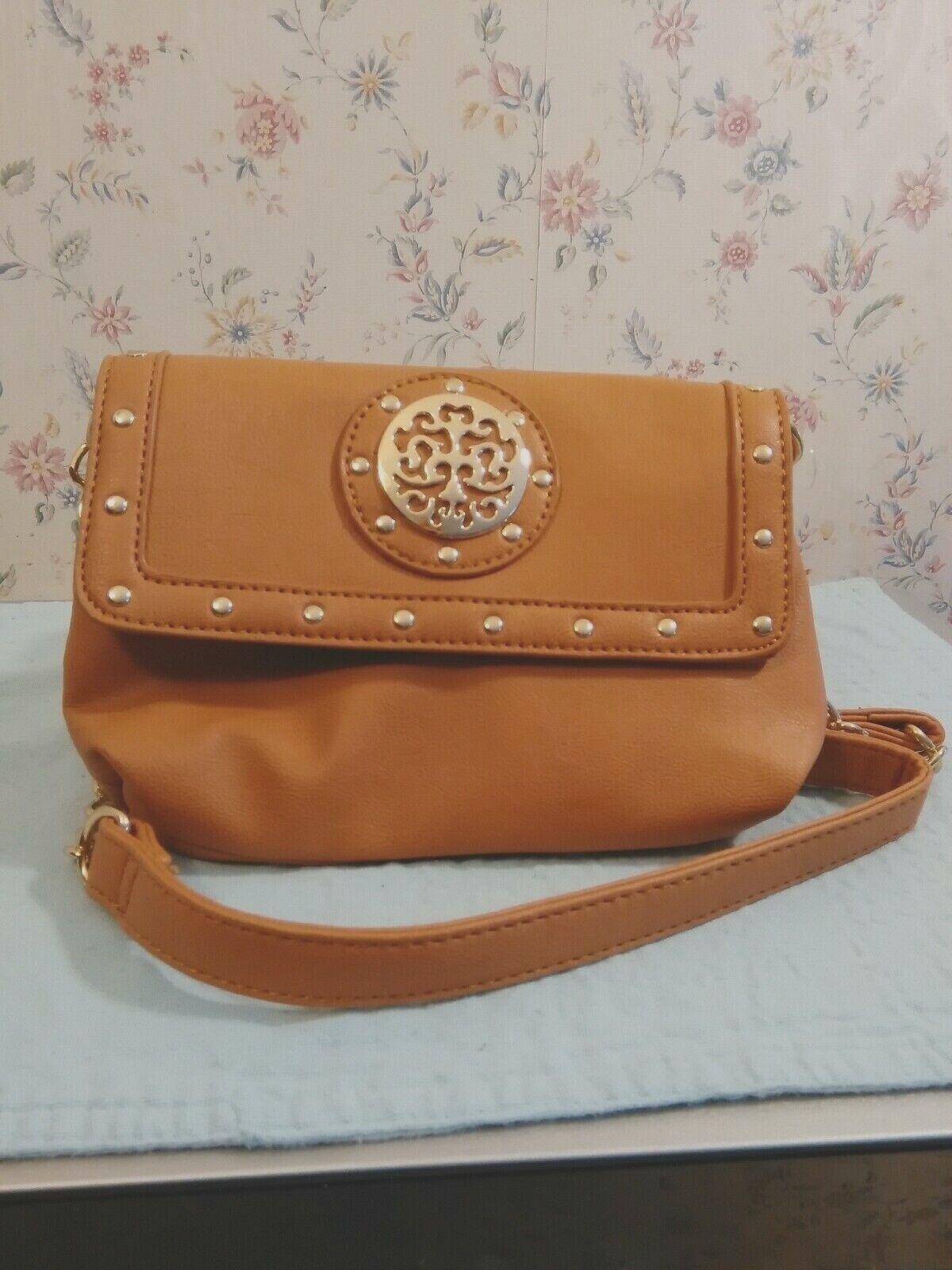 Tan M-Style Messenger Bag
