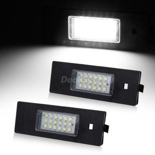 2pcs 6000K White Car License Plate Lamp LED Set Assembly for BMW E63//E64