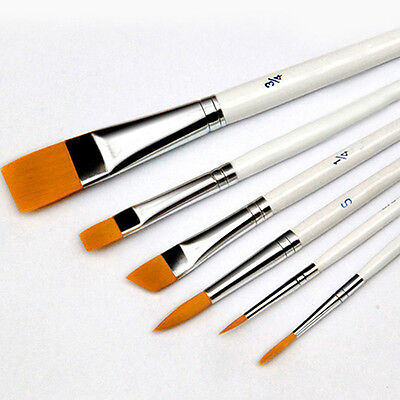 6Pcs Art Painting Brushes Set Acrylic Oil Watercolor Artist Paint Brush Dulcet