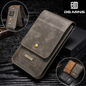 Samsung-S9-S8-Plus-S7-Note-9-Leather-Case-Card-Pouch-Bag-Belt-Clip-Ring-Holster