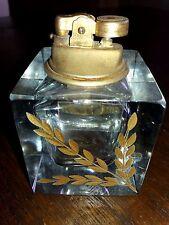 Pagnin & Bon Vecchio accendino n vetro di murano con incisione oro zecchino 1000