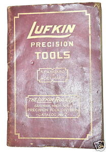 LUFKIN-PRECISION-TOOLS-Book-CATALOG-No-7-RB164-rule-measuring-tools-Micrometers