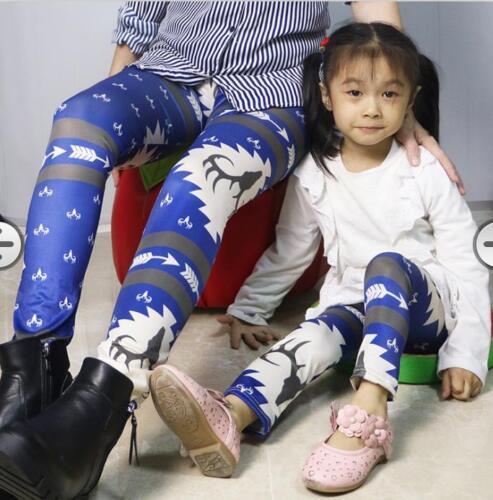 Damen Kinder Hose Leggins Leggings Weihnachten Bedruckt Stretchhose Winter Pants