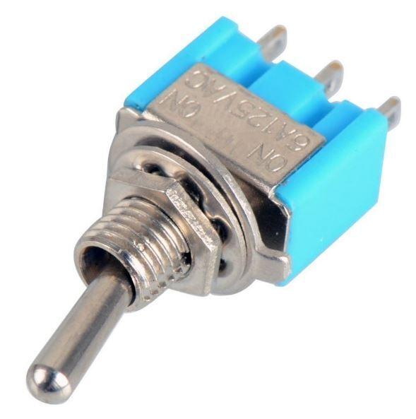 5 x Mini interrupteur à levier de commutation 3 pin SPDT 6A 125VAC / 3A 250VAC