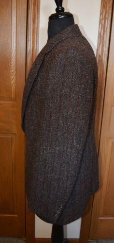 David da 40 uomo Wool Marrone grigio 42 Nm Herringbone Tweed Cappotto Blazer sportivo Hunter FUxwBH