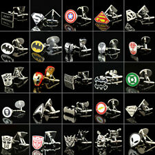 1 Pair Popular Wedding Party Groom Shirt Square DC Marvel Super Hero CuffLinks