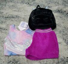 More Than Magic Kid Girls Size XL 14//16 Soft Aqua Sleeveless Dance Leotard NWT