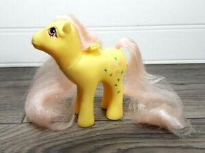 My Little Pony Vintage 1986 ROSEDUST Flutter Ponies Yellow Rose Pink Mane & Tail