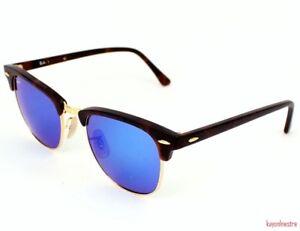 3867cd7dd1c SALE ! Ray-Ban RB3016 1145 17 Sand Havana Clubmaster Sunglasses Blue ...