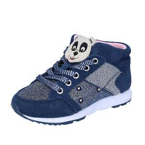 Dettagli su scarpe bambina LELLI KELLY 29 EU sneakers blu tessuto camoscio BR330 29