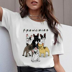 Women-T-Shirt-Top-Female-Funny-Cute-Pug-French-Bulldog-German-Shepherd-Pit-Bull