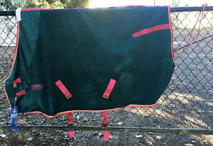 "New Weatherbeeta Fleece Cooler Blanket Liner Sheet Cover 69"" Rug Horse Tack"