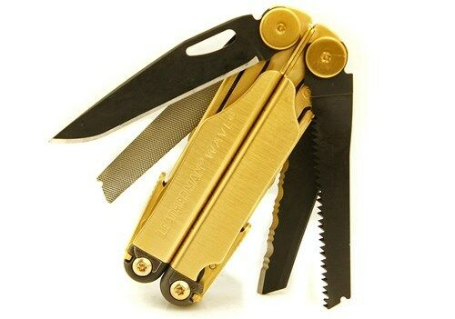 "Leatherman Wave Multi-Tool, ""Bullion and Black Edition"", 24k w/ Black Oxide"