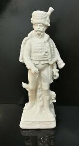 9942991-ds Wagner&Apel Porcellana Figura Soldato Francese Bianco H20cm