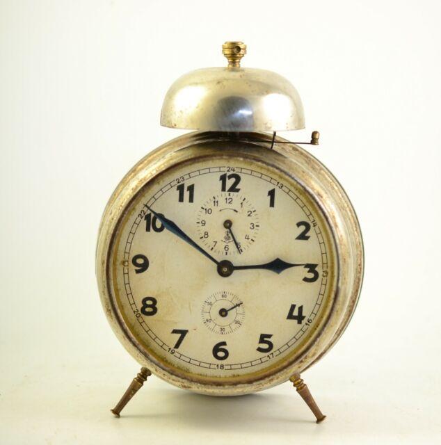 Antique GUSTAV BECKER 1930s Alarm clock Germany Vintage ...