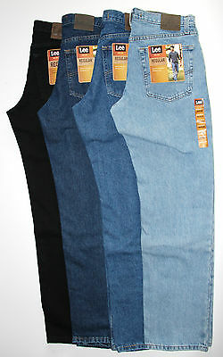 New LEE Regular Fit Jeans All Men's Sizes Four Colors Lee Classic Collection