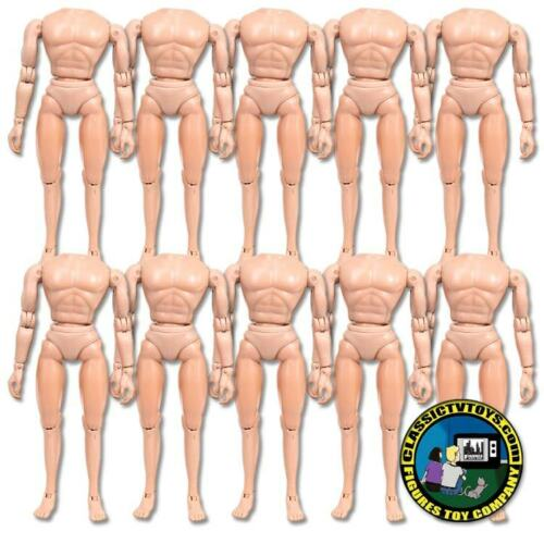 Set of 10 Flesh 6 inch Retro Size Regular Male Bodies