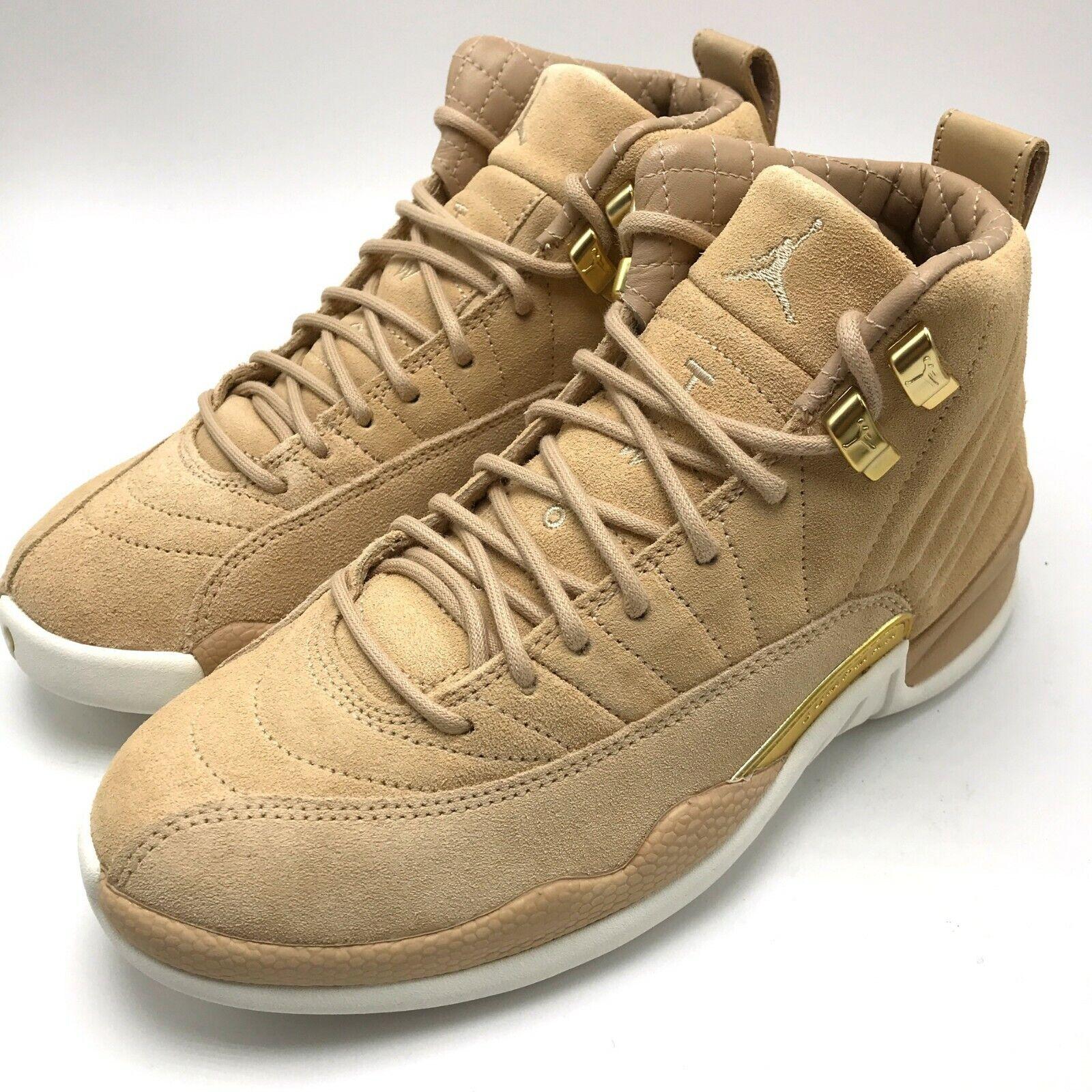 huge selection of ab99b 36a9c Air Jordan Retro 12 Nike Vachetta Tan Shoes Size 7.5 M Women's SNEAKERS  Ao6068