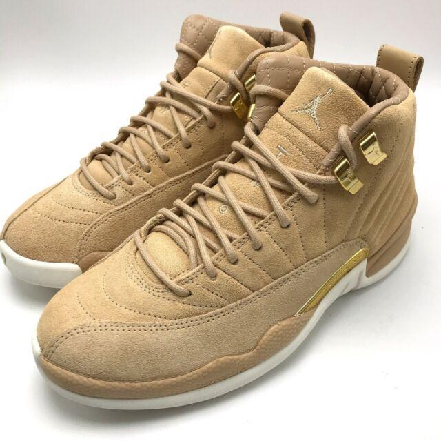 huge selection of 77b30 a25fc Air Jordan Retro 12 Nike Vachetta Tan Shoes Size 7.5 M Women's SNEAKERS  Ao6068