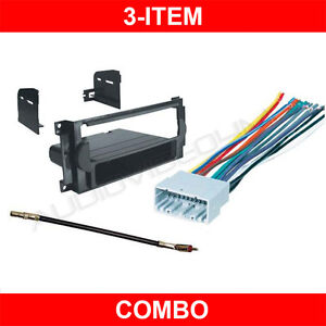 2005 2007 jeep grand cherokee stereo radio dash kit wire harness rh ebay com jeep tj radio wiring harness diagram jeep radio wiring harness color code