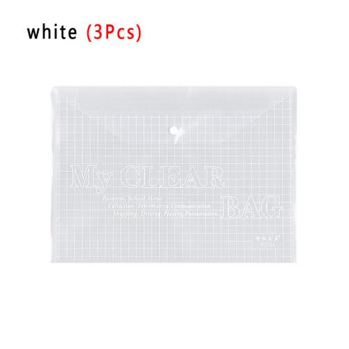 Stationery Paper Holder Transparent Document Bag Pencil Case A4 File Folder