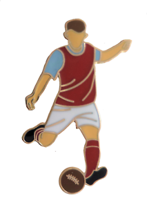 Aston Villa Football Player Gold Plated Pin Badge