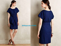 "00 Petite New Anthropologie HD in Paris ""Ribboned Poplin Dress"" $148 5*"