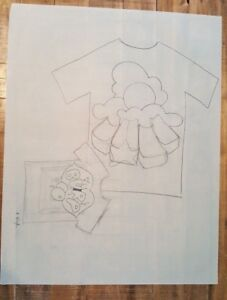 Bill-Schiffer-Design-Sketch-In-Pencil-Double-T-shirts-BURP-amp-Clouds-SIGNED