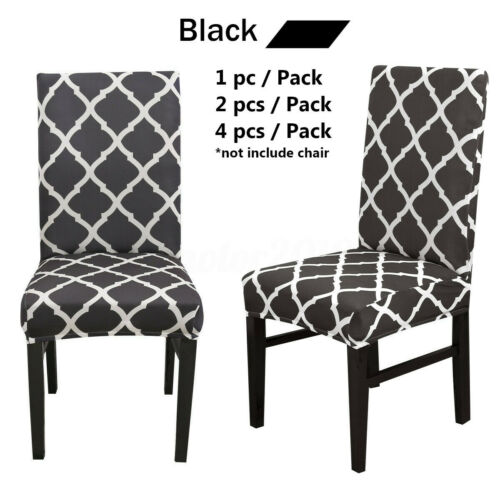 1//2//4//6 Wedding Banquet Chair Covers Spandex Stretch Seat Slipcovers Dining Room