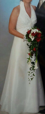 Kleidung & Accessoires Elegantes Brautkleid Traum Hochzeitskleid A-linie Gr Brautkleider 38/40 Gebraucht 2019 Offiziell