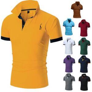 Men-039-s-Polo-Shirt-Dri-Fit-Golf-Sports-Summer-T-Shirt-Jersey-Short-Sleeve-Tops