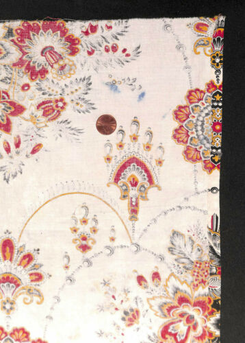 Antique 1870 French Jewel Swags Fabric