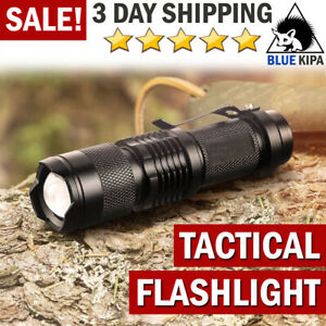 Tactical Flashlight LED Torch Light Police Military Camping Outdoor Flashlight