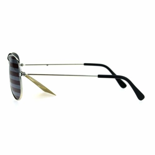 Kids Child Size Wire Rim Flag Imprint Lens Police Style Pilots Sunglasses