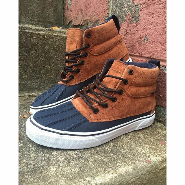 new homme  7.5/wmns 9 vans sk8 hi MTE del pato (mountain edition) ginger/navy