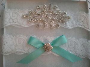ea5e692b5ce Image is loading Wedding-Garter-Something-Blue-Garter-Set-White-Lace-