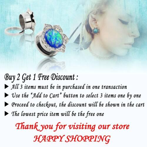 "10pcs Ear Plugs Ear Gauges Random Mixed Style Ear Tunnels Choose Size 2g-5//8/"""