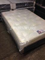 4ft Double Black Base Divan Bed+orthopaedic Firm 10 Mattress. Uk Factory Shop.