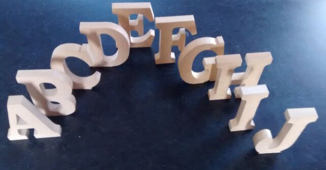 FREE STANDING WOODEN LETTERS/HOME DECOR/NAME. large wooden letters,numbers