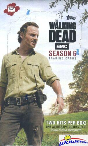 2018 Topps The Walking Dead Season 6 Factory Sealed HOBBY Box-2 HITS-AUTOGRAPH