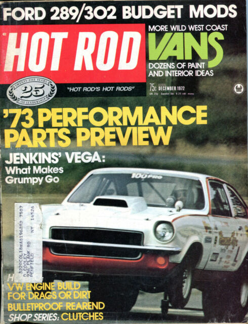 Hot Rod Magazine December 1972 '73 Performance Parts Preview VG 011916jhe